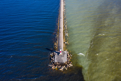 Sunny Day on the Breakwall Aerial