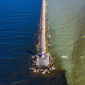 Ludington Breakwall Aerial