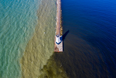 Ludington Light Aerial