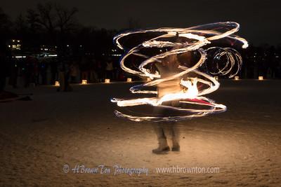 Fire Hula Hoop Twirl