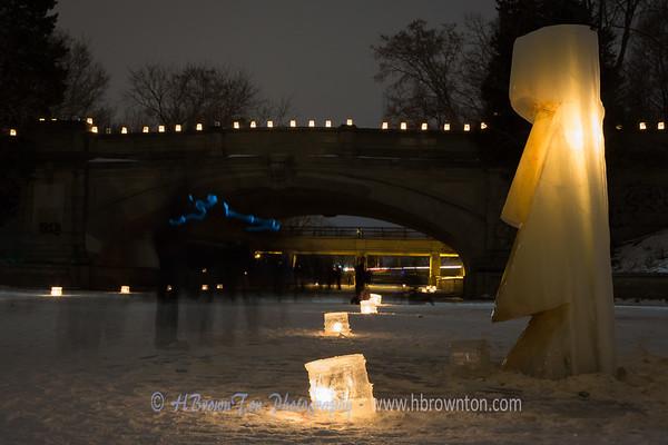 Ice Luminary Sculpture