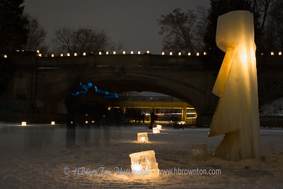 Ice Luminary Sculpture