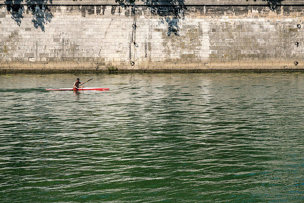 Kayaking in the Saône in Lyon