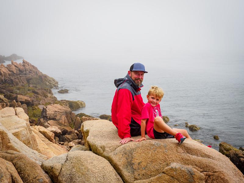Scott & Gray outside of Bass Harbor Lighthouse