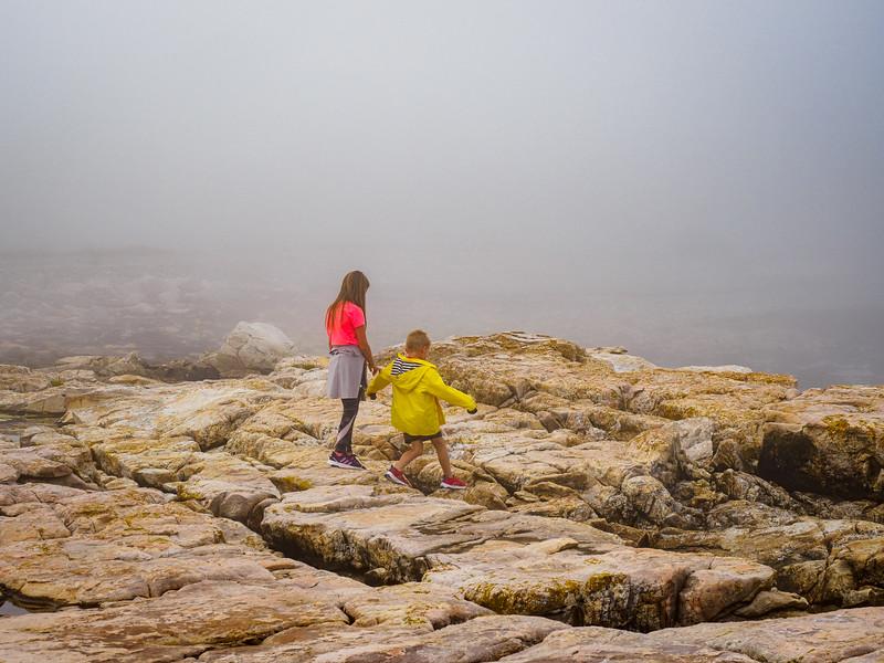 Sea Wall on a foggy day