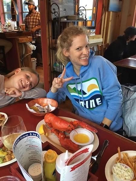 Birthday lobster dinner