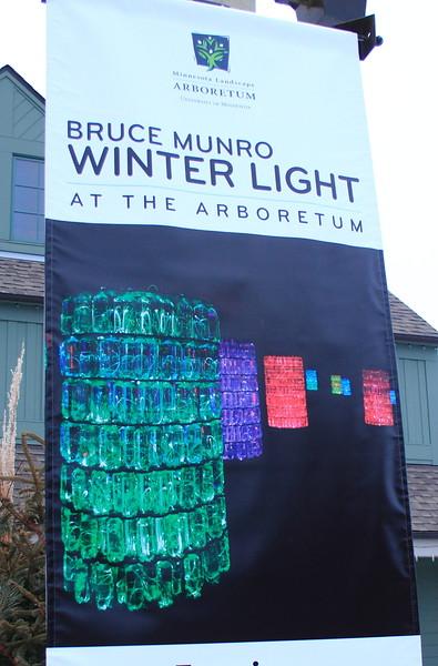 Bruce Munro Winter Light exhibit- MN Landscape Arboretum