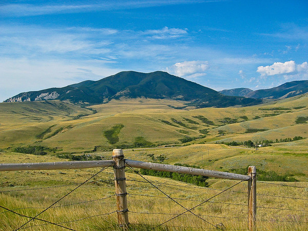 Looking out from Chief Joseph Highway, near Red Lodge, Montana