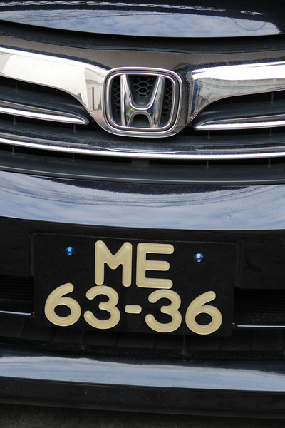 Honda Car Logo with Macau Number Plate