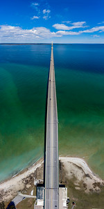 Mackinac Bridge from Sky