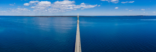 Mackinac Bridge Aerial Panorama