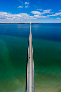 Mackinac Bridge Blues Aerial