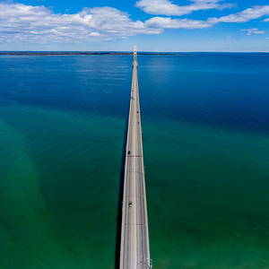 Mackinac Bridge Aerial Square