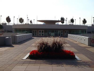 Main entrance to Monona Terrace. Designed by Frank Lloyd Wright.