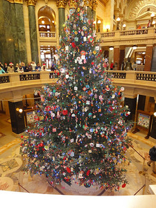The 2010 Capitol Christmas tree in the rotundra of the State Capitol Building.