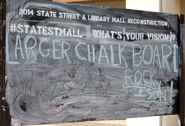 library mall (same blackboard, next day)