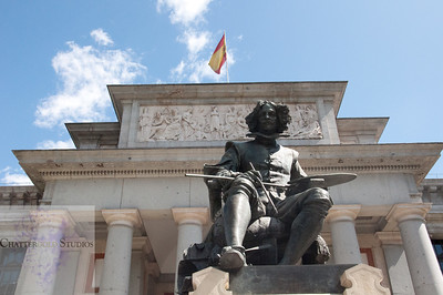Velazquez Statue outside the Prado Museum (Color)