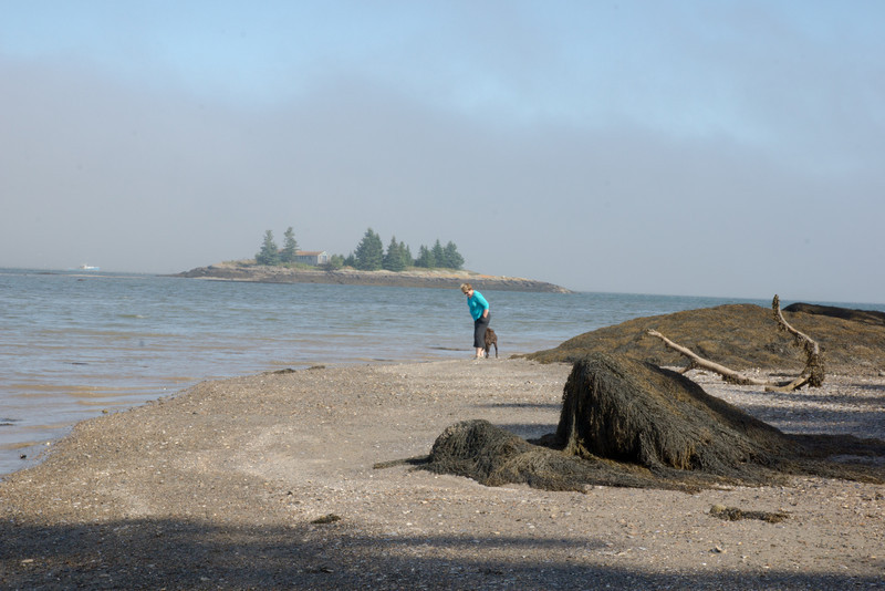 This is taken at low tide on the beach in front of the cottage. At high tide its under six  to ten feet of water.