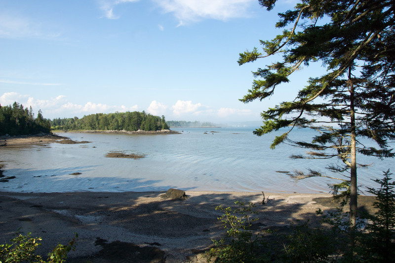 View of the cottage's beach at low tide.