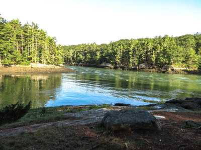 Outgoing tide, Ovens Mouth, Ovens Mouth Preserve, Boothbay, ME