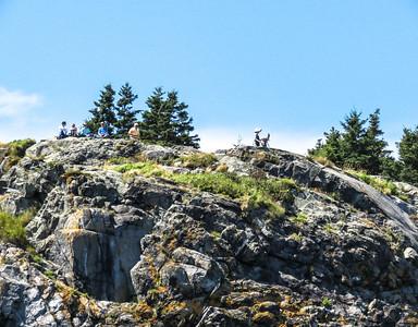 Visitors atop Burnt Head, Monhegan Island, ME