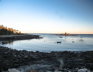 Sunset at Ocean Point, East Boothbay, ME