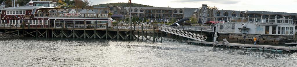 Bar Harbor shoreline.