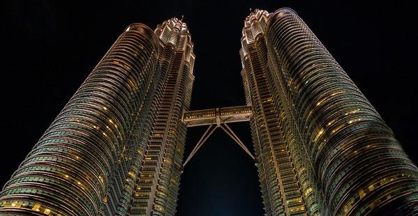 Petronas Towers, Malaysia, Kuala lumpur, Cityscape, Nightscape