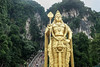 Murugan statue at the Batu Caves Hindu shrine.