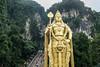 Murugan statue at the Batu Caves Hindu shrine.