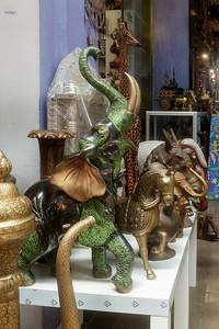Sculptures in Petaling Street shopping mall.