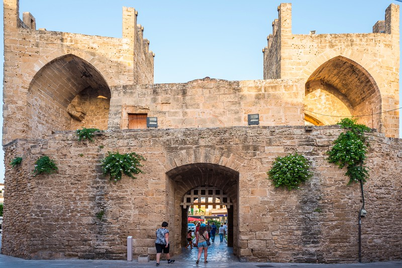 The gates of the old town of Alcudia