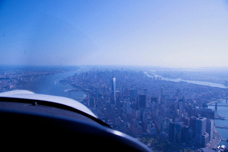 Flying over the Hudson