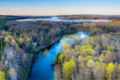 Manistee River Evening Aerial