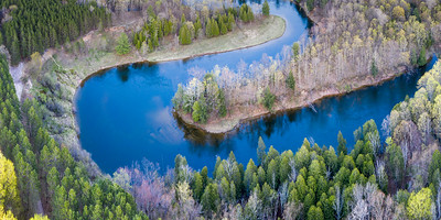 Manistee River Bend from Above