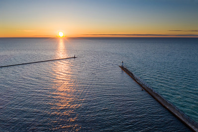Evening in Manistee Aerial