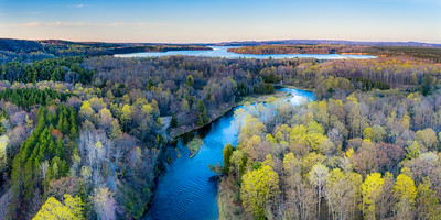 Manistee River and Hodenpyle Dam Aerial
