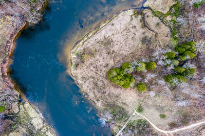 Manistee River Bend Aerial