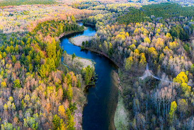 Manistee River from Above in Spring