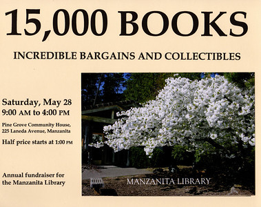 The annual sale of used books began in 1988 and takes place on the last Saturday in May. This poster from the 2005 sale featured the cherry tree.