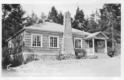 The library moved into the Pine Grove Community House when the building opened in 1933. For fifty years, the community house provided space for the books -- first in the northwest corner, then, after 1939, in the space now the kitchen.