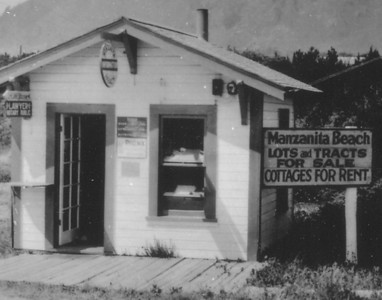 The Manzanita library began in 1930 with two shelves of books in the real estate office of Ben Lane near the west end of Laneda Avenue. The building stood on the site of today's visitor center.