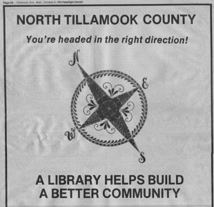 In 1947, civic clubs throughout Tillamook County urged creation of a county library system. Volunteers in north county held fund raisers, sought donations and got out the vote to help create the new system.