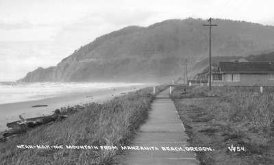 In the 1930s, the beach front had a wooden boardwalk, not a road.