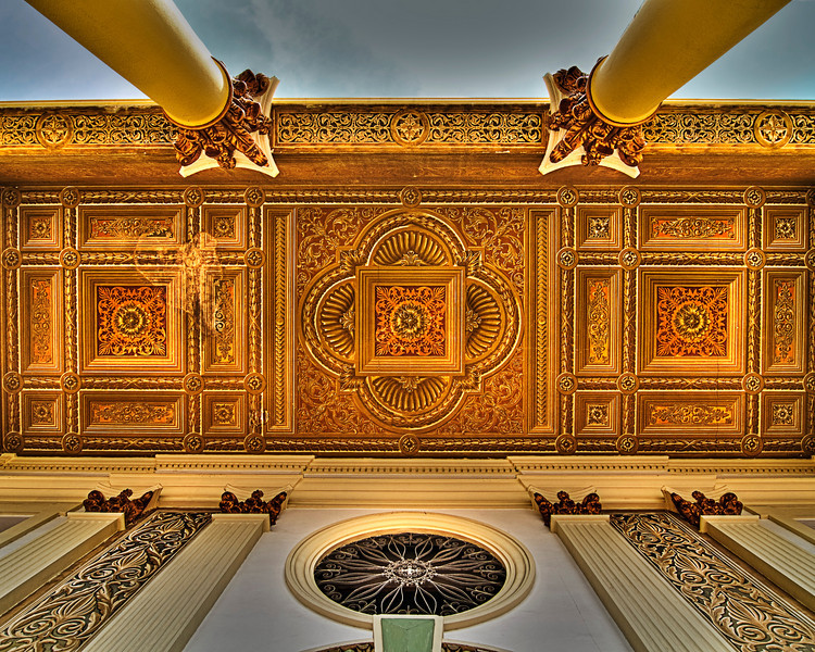 Ceiling details of the Basilica de la Chiquinquira