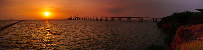 Panoramic of the Bridge over Maracaibo Lake