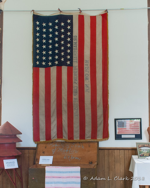 An old flag from Marlow.  This flag only has 47 stars on it.  A bit more information can be found in the next picture