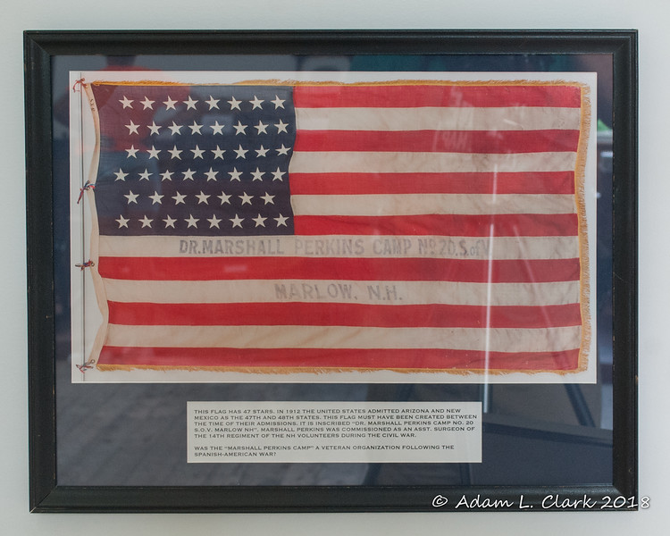 A picture of the flag (turned so you can read it) with a bit more information about it