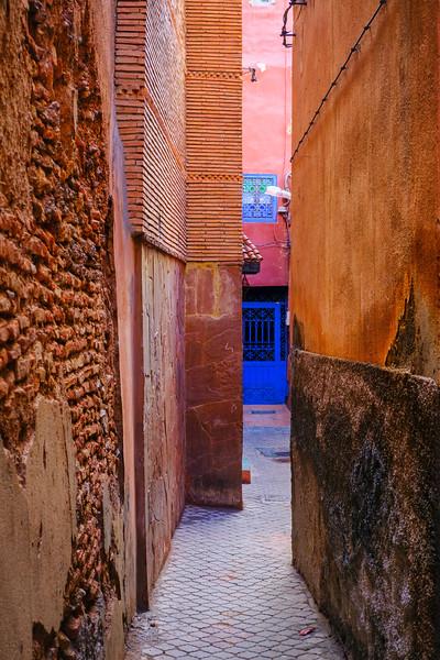 Marrakech narrow alley