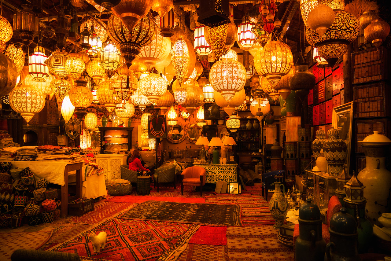 Hidden store in Marrakech